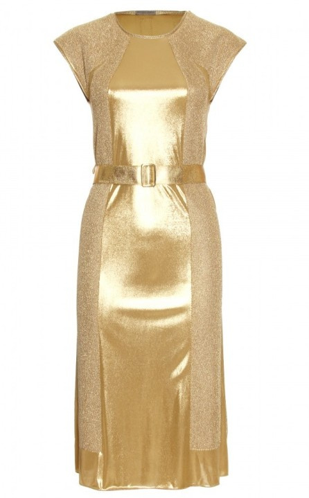 Bottega Veneta PANELED-METALLIC-DRESS