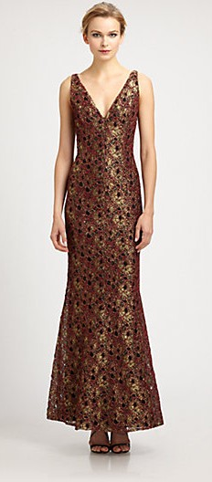Carmen_Marc_Valvo_Metallic_Lace_Gown