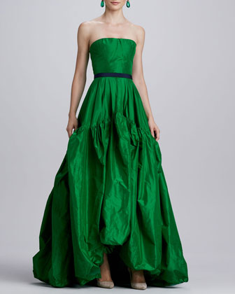 OscadelaRenta_silk gown Green_2