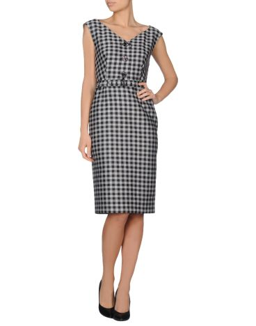 Prada, checked sheath dress