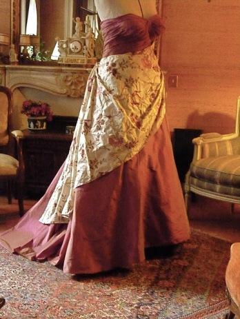 Arnaud Lancè, rose taffeta gown