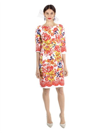 Oscar De La Renta, floral printed dress