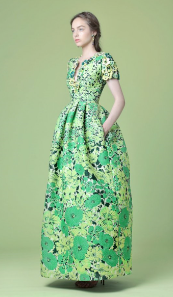 Andrew Gn, Bold Floral Print Gown