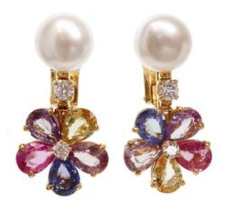 Bulgari, Flora Sapphire earrings