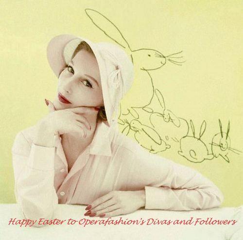A fashionable Easter bonnet, 1955.