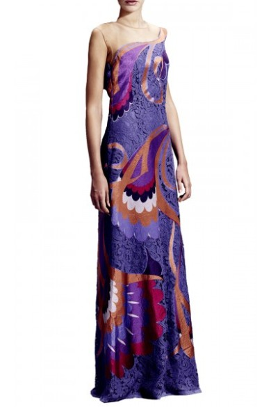 Alberta Ferretti - Purple lace gown