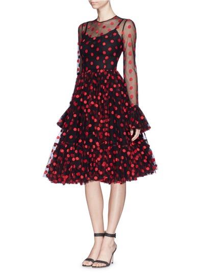 Dolce & Gabbana - Polka dot tulle dress