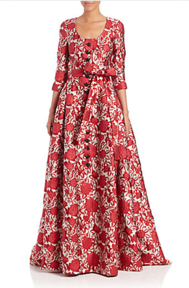Carolina Herrera_Jacquard gown_1
