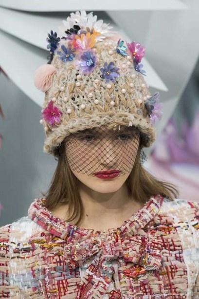 Chanel veiled beanie