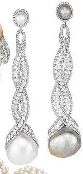 Chopard - Diamonds and pearls earrings