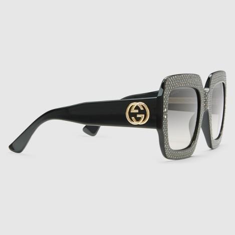 Gucci_Oversize-square-frame-rhinestone-sunglasses_1