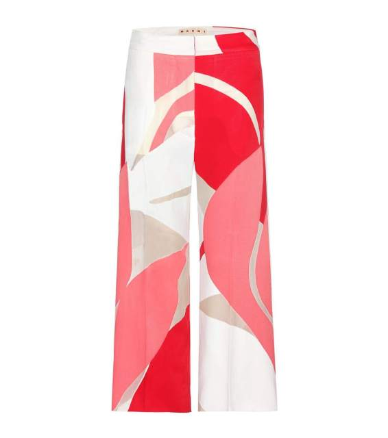 Marni - Floral print wide-leg trousers