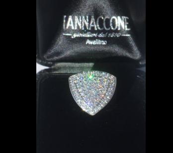 Iannaccone Gioielli - Shield ring with diamonds