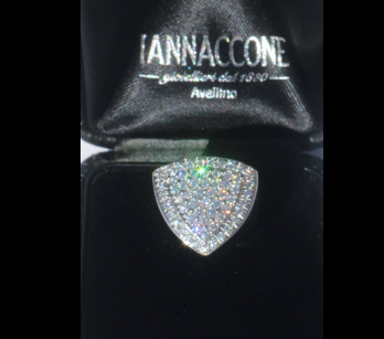 Iannaccone Gioielli - Shield ring with diamonds