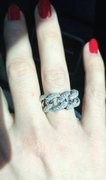 Iannaccone Gioielli - Braided ring with diamonds