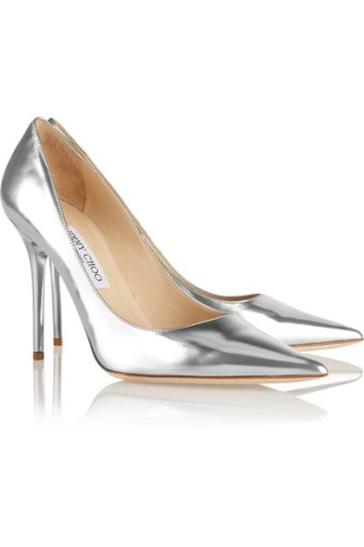 Jimmy Choo - Abel mirrored-leather pumps