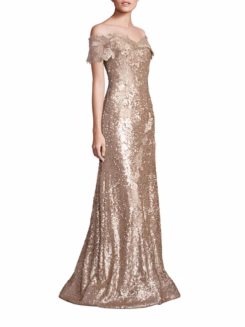 Rene Ruiz_Off-the-Shoulder Sequin Lace Applique Gown