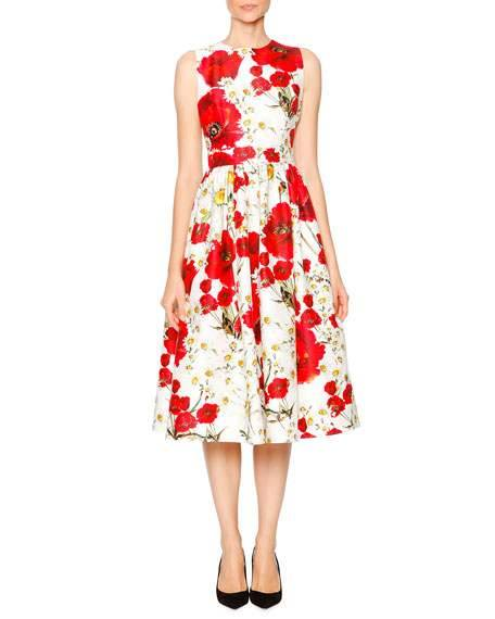 DolceGabbana_poppies and daisy dress
