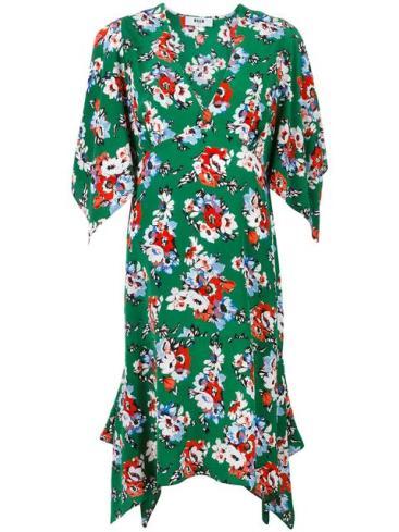 MSGM_floral dress