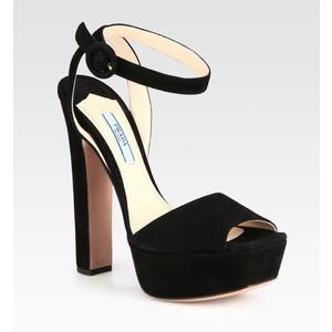 Prada, suede platform sandals