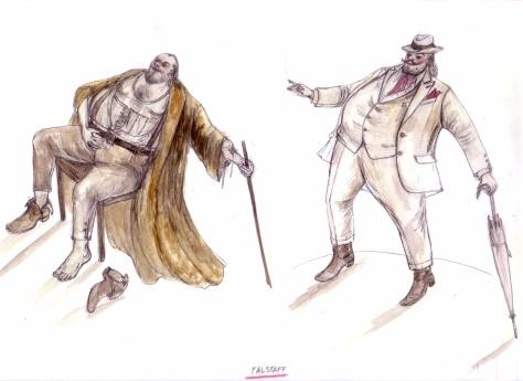 """Sketch for Verdi's """"Falstaff,"""", 2008"""