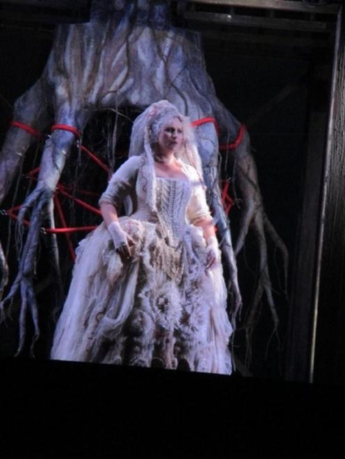 "Wagner, ""Das Rheingold"", directed by David Pountney, Lyric Opera of Chicago 2016. Erda."