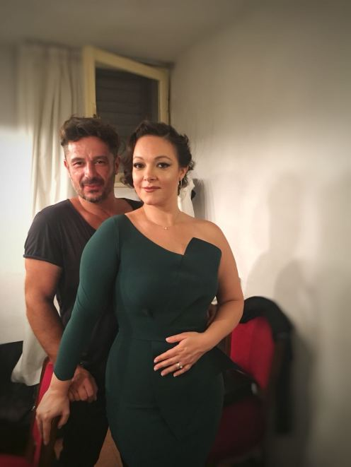 Eleonora Buratto with Mariano Sabatelli