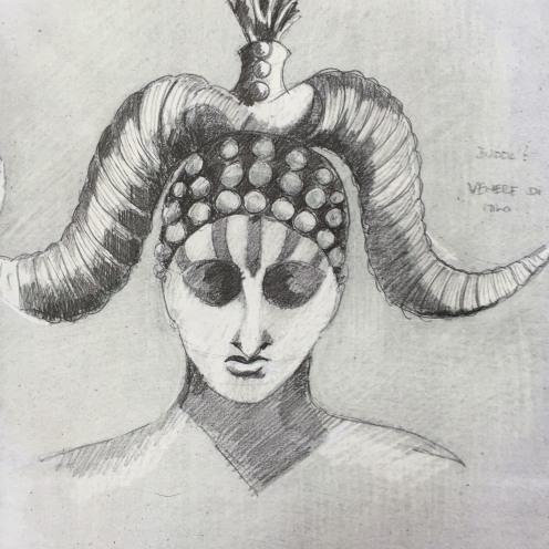 """Sketch for """"The Bassarids"""", directed by Mario Martone, Teatro dell'Opera di Roma 2015"""