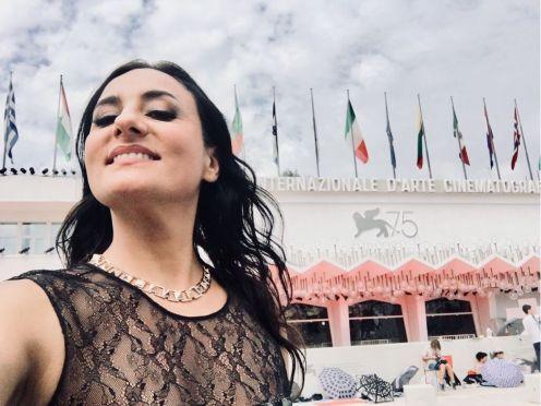 Carmela Remigio with Obelisco necklace from Roberto Coin