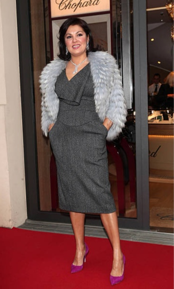Anna Netrebko at Chopard boutique in Munich, 2014