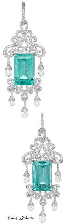chopard_aquamarine and diamonds briolette earrings