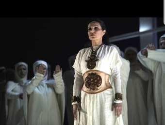Norma, costume by Karl Lagerfeld, Opera de Monte-Carlo 2009